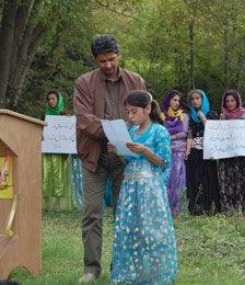 پیام کودکان و نوجوانان روستای قلعه رش به بزرگان و مسئولان فرهنگی کشور