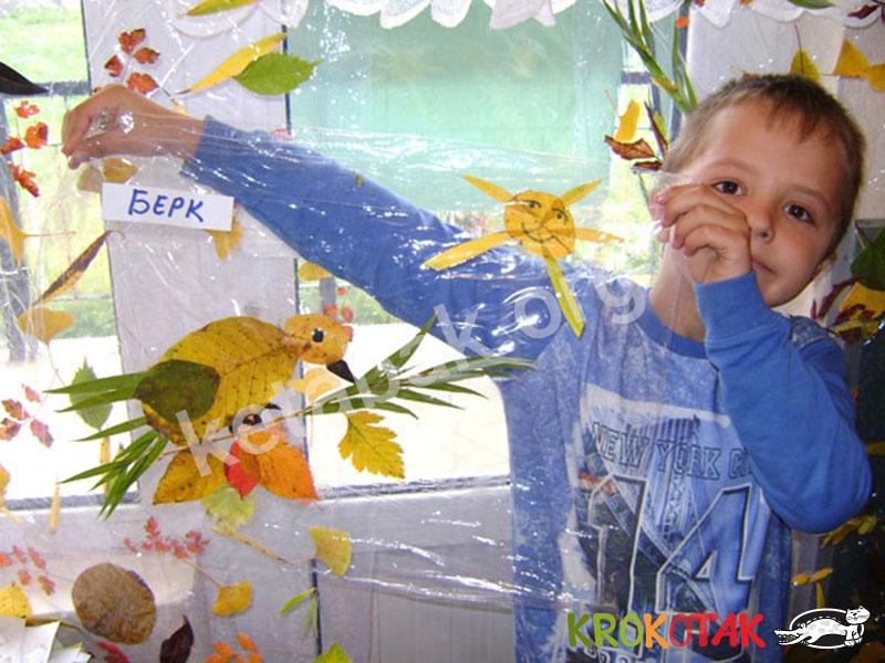 پنجرهای از برگ های پاییزی بسازید