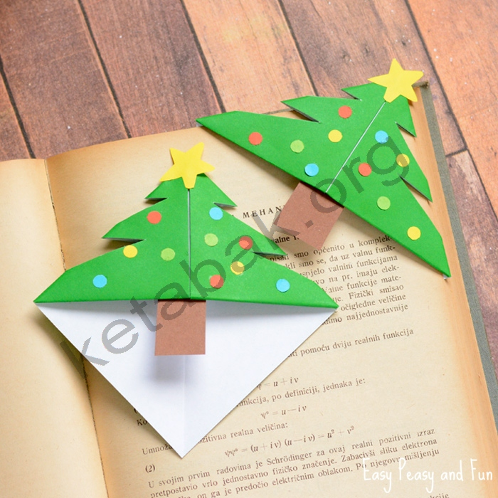 ساخت نشان کتاب درخت کریسمس