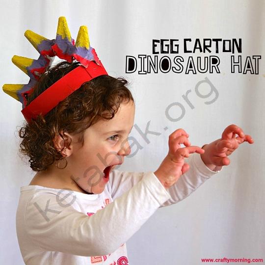 ساخت تاج دایناسور با شانه تخم مرغ