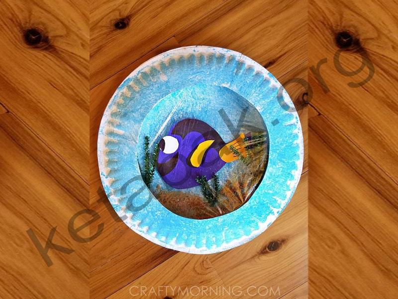 ساختن تنگ ماهی با بشقاب یکبارمصرف