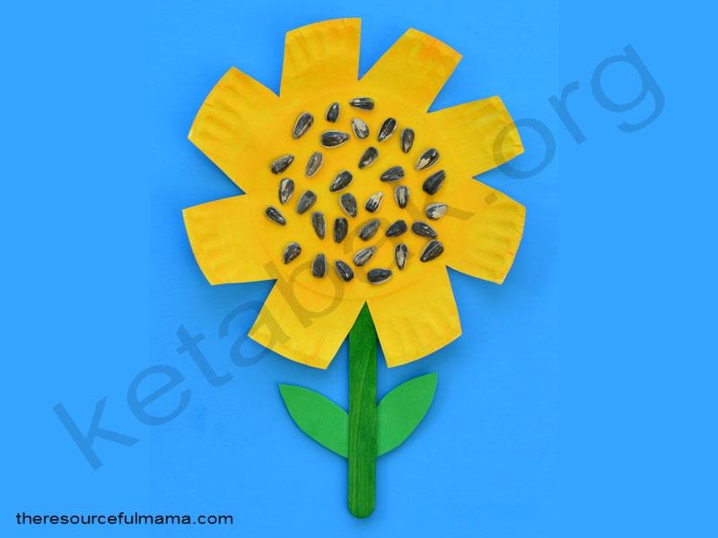 ساخت کاردستی گل آفتابگردان