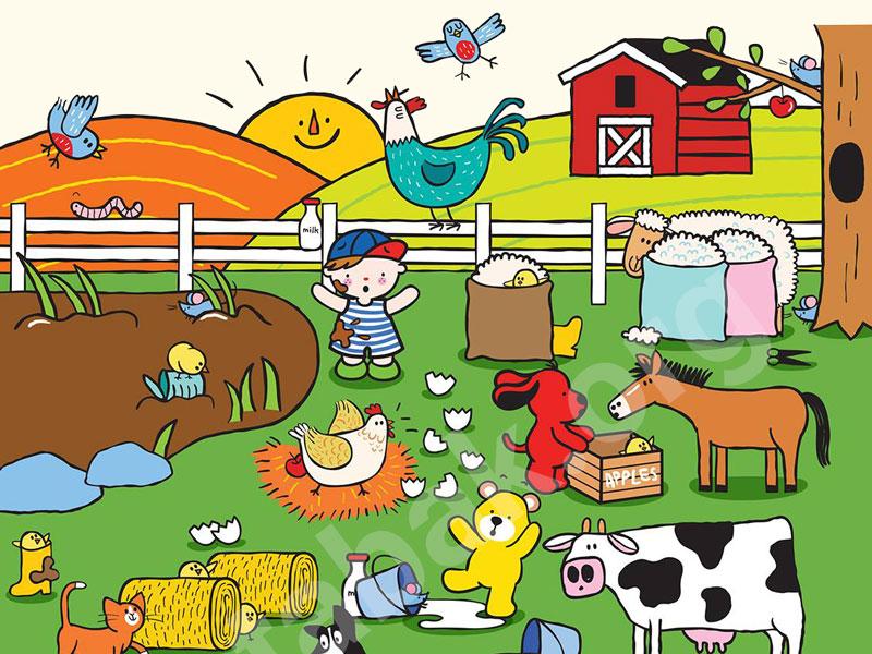 بازی بگرد و پیدا کن در مزرعه