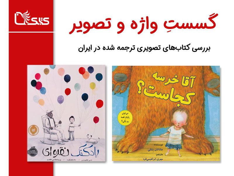 گسستِ واژه و تصویر، بررسی کتابهای تصویری ترجمه شده در ایران، بررسی دو کتاب «آقا خرسه کجاست؟» و «بادکنک نقرهای»