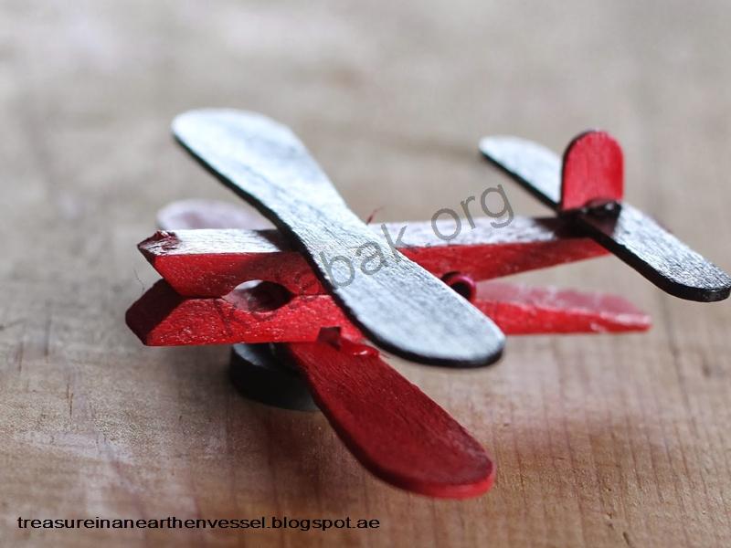 ساخت هواپیما با گیره لباس