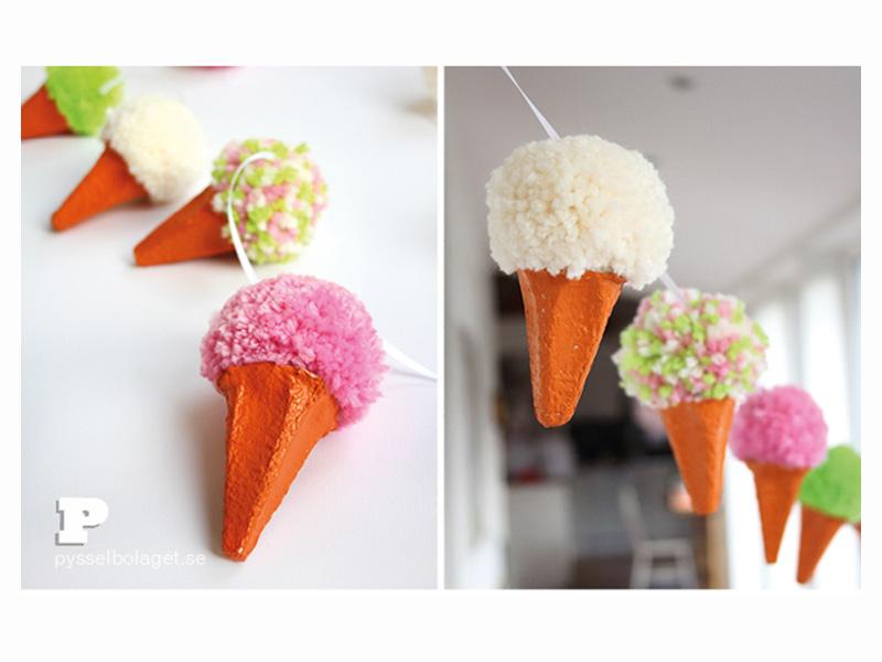 ساخت کاردستی بستنی با کاموا