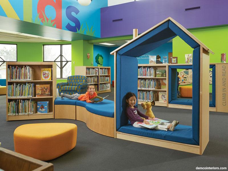 بخش کودک و نوجوان کتابخانه عمومی کنوشا (Kenosha)