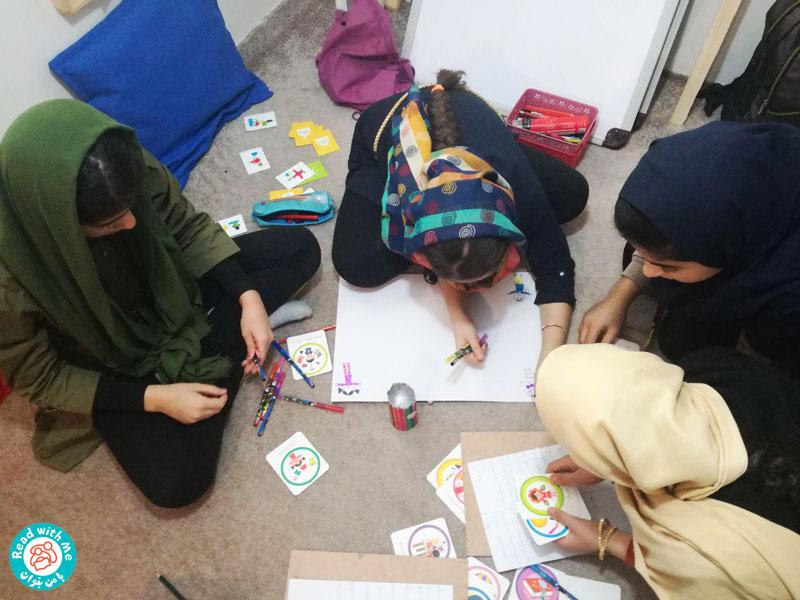 آشنایی کودکان با مفاد پیماننامه حقوق کودک در کتابخانه «با من بخوان» ریجاب