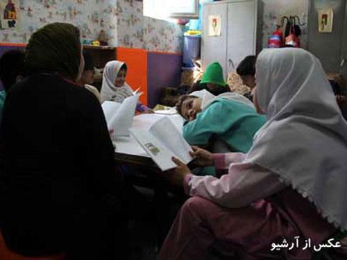 تجربه خواندن کتاب در خانه کودک شوش