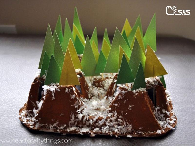 کاردستی کوهستان برفی بسازید