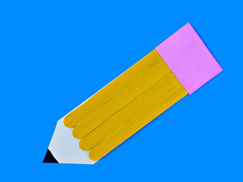 ساخت کاردستی مداد برای پیشدبستانیها