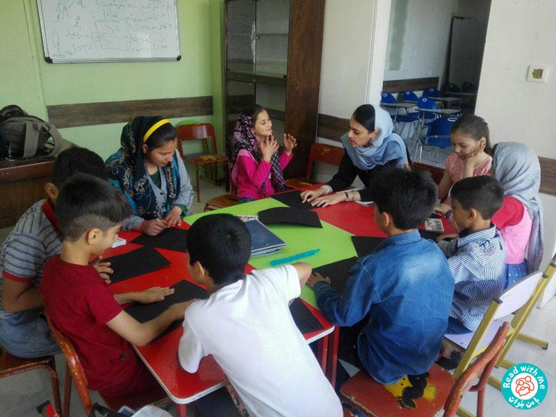 تجربه بلندخوانی کتاب «پیکو، جادوگر کوچک» برای کودکان بازمانده از تحصیل