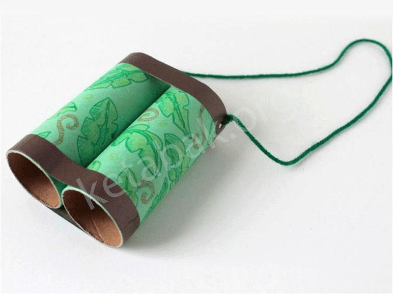ساخت دوربین شکاری با رول دستمال توالت