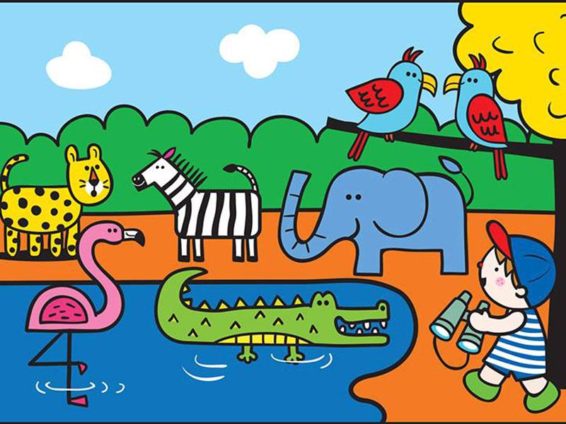 بازی پیدا کردن تفاوت ها در باغ وحش