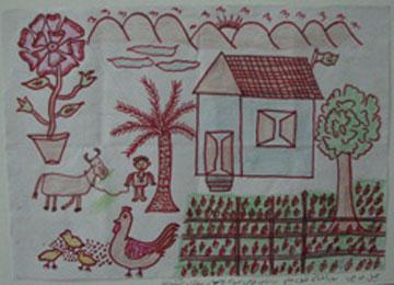 """نقاشیهایی از """"روستای من""""!"""