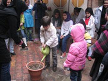 کودکان به یک درخت زندگی بخشیدند!