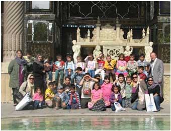 بازدید دانش آموزان مدرسه سفارت ترکیه از کاخ گلستان
