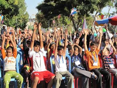جشن کودکان کار و خیابان در روز جهانی کودک