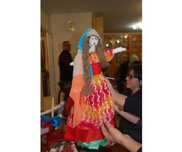 کارگاه آشنایی با عروسک گرجی برگزار شد