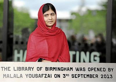 ملاله یوسف زی کتابخانه ای را در انگلستان افتتاح کرد