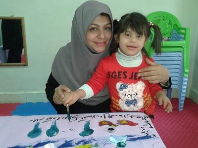 نمایشگاه نقاشی کودکان معلول به مناسبت روز جهانی معلولین