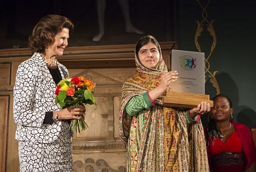 ملاله یوسف زی جایزه کودکان جهان را از آن خود کرد