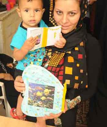 نمایشگاه خواندن  با نوزاد و نو پا در انجمن دوستداران ادبیات کودک و نوجوان اصف