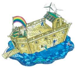 کشتی کودکان در راه نجات زمین!