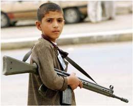 کودکان عراقی با خطر سلاح های دستی آشنا می شوند!