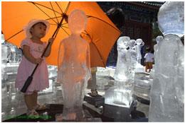 """کودکان یخی """"معبد زمین"""" گرمشان است!"""
