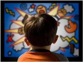 کودکتان را کمتر پای تلویزیون بنشانید!