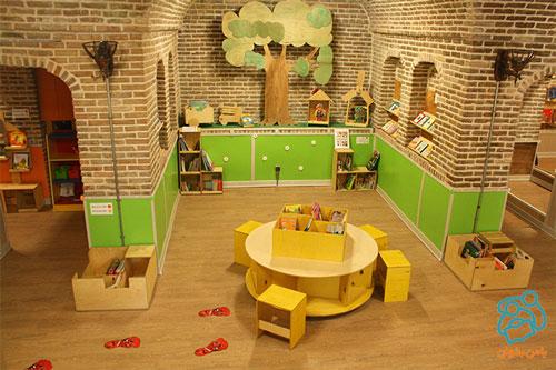 کتابخانه کودک محور خانه کودک کوشا بازگشایی شد