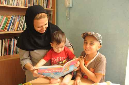 خواندن با نوزاد و نوپا در جشنواره هفته کودک