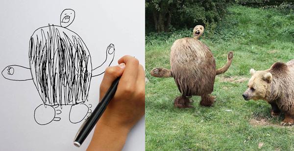 خلاقیت یک پدر، نقاشی پسرها را زنده کرد