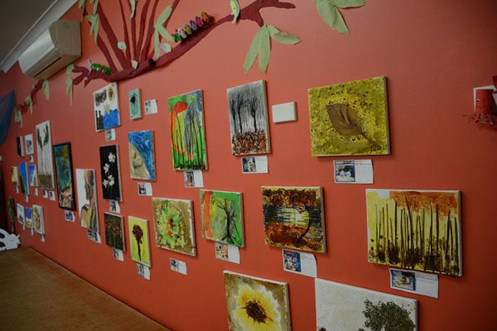 برپایی نمایشگاهی از خطها و رنگهای طبیعت