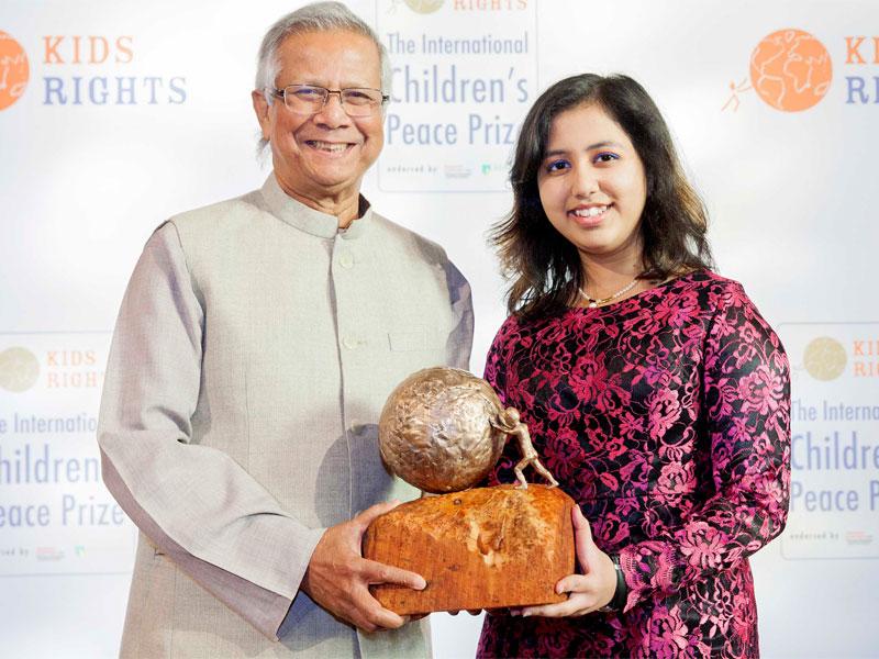 دختری ۱۶ ساله برنده جایزه بینالمللی صلح کودکان شد