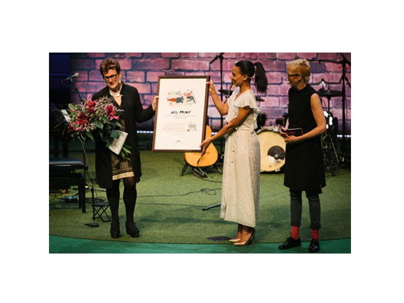 سخنرانی مگ روزاف هنگام دریافت جایزه آسترید لیندگرن ۲۰۱۶
