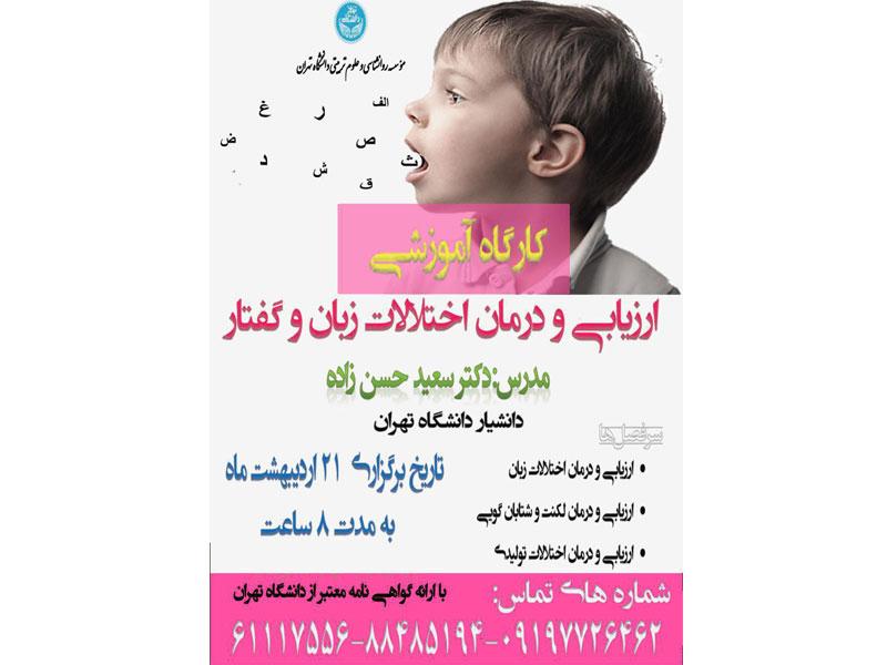 کارگاه آموزشی «ارزیابی و درمان اختلالات زبان و گفتار» برگزار میشود