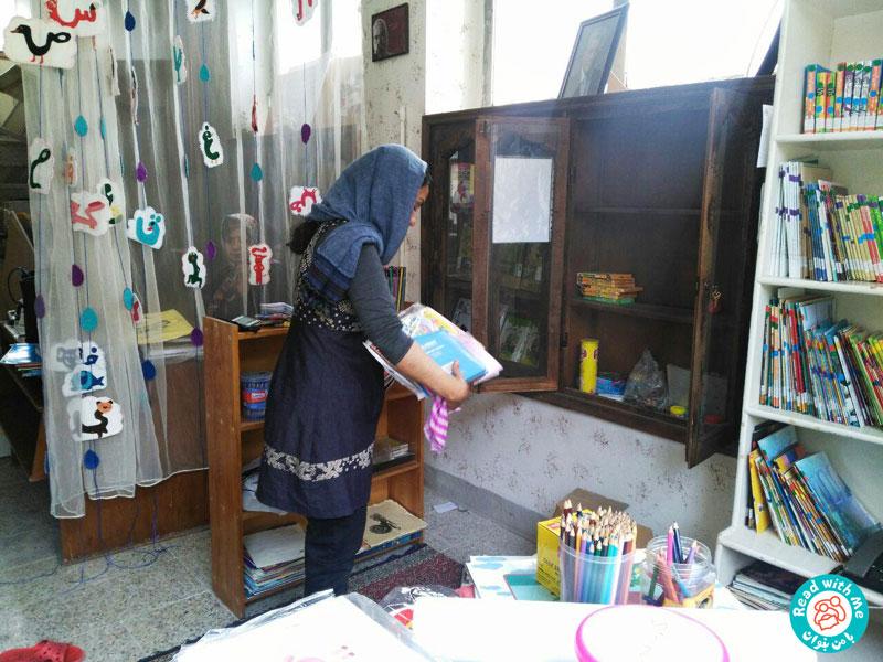 گزارش تجهیز کتابخانه کودکمحور «توران»