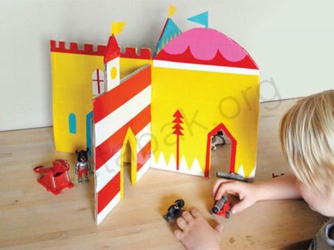 ساخت قلعه با مقوا
