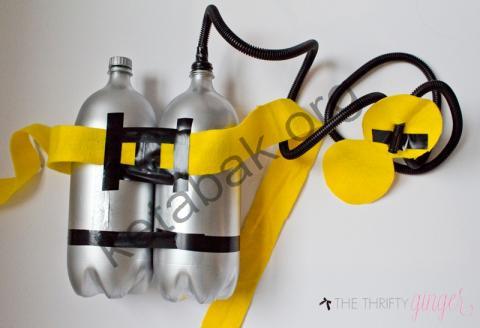 ساخت کاردستی کپسول غواصی با بطری پلاستیکی