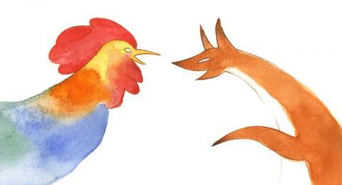 روباه و خروس