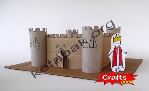 ساخت قلعه با مقوای دستمال رولی
