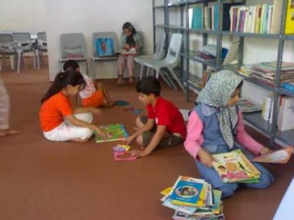 کتابخانه ی روستای باباریز