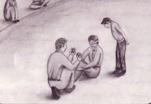 بازی دستمال پشتی