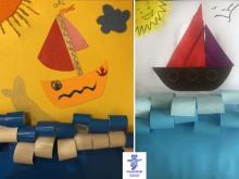 ساخت کاردستی قایق کوچولو توسط سارا نامداری