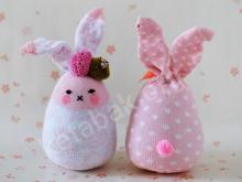 کاردستی عروسک خرگوش با جوراب