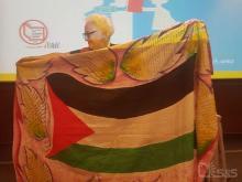 پرچمی از کودکان غزه برای قدردانی از پشتیبانیهای IBBY