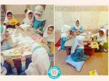 تجهیز و فضاسازی کتابخانه کودکمحور «با من بخوان» در مدرسه عترت