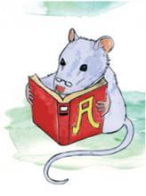 """""""من یک موش کتابخوان هستم""""، خواندن و نقاشی چه لذت بخش است!"""
